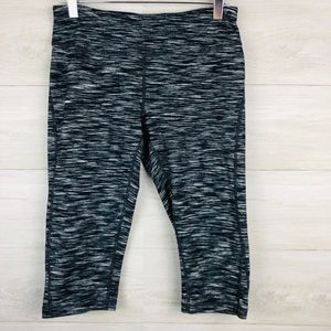 Zella Cropped Athletic Leggings in Heathered Black